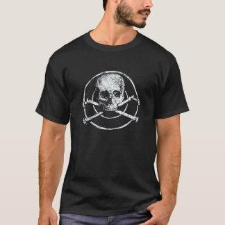 het bot zwarte achtergrond van schedelspiraten t shirt