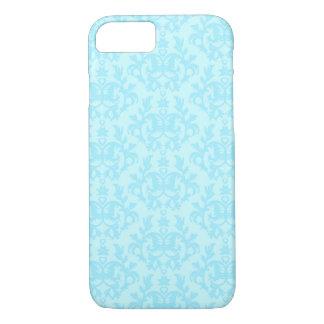 Het botanische hoesje van damast blauwe iphone