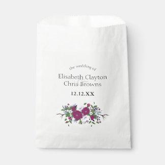 Het botanische paarse violette huwelijk van het bedankzakje