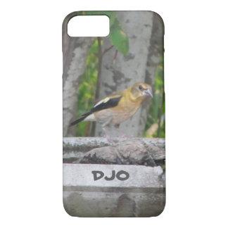 Het boze Kijken Vogel met Uw Initialen iPhone 7 Hoesje