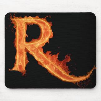 Het branden Alpha- - R Muismat
