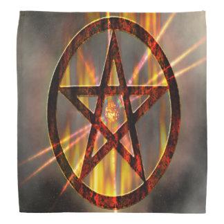 Het branden Pentagram Bandana