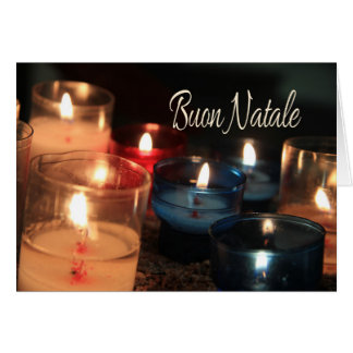 Het Branden van Natale van Buon kaarsenKerstmis Kaart