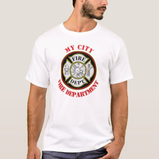 Het Brandweerkorps van de stad om Kenteken T Shirt