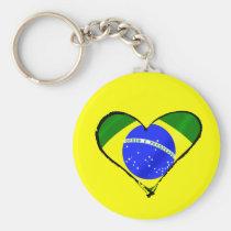 Het Braziliaanse hart van de de vlagliefde van har Sleutel Hangers