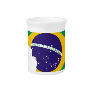 Het Braziliaanse Land van het Symbool van de Kaart Drink Pitcher