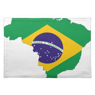 Het Braziliaanse Land van het Symbool van de Kaart Placemat