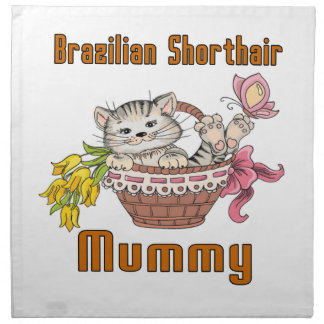 Het Braziliaanse Mamma van de Kat Shorthair Servet