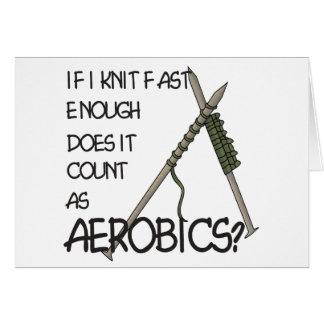 Het breien Aerobics Kaart