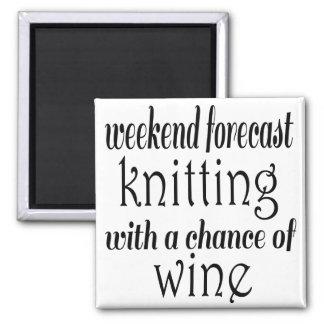 Het breien en Wijn Magneet