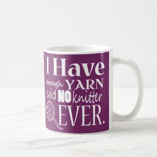 Het breien ♥ niet Genoeg Ambachten van het Garen Koffiemok