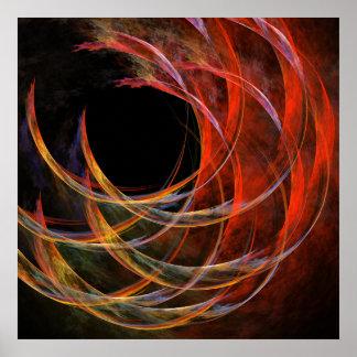 Het breken van de Druk van de Kunst van de Cirkel Poster