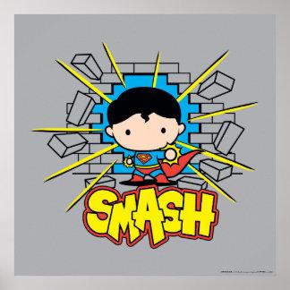 Het Breken van de Superman van Chibi door Poster
