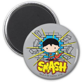 Het Breken van de Superman van Chibi door Ronde Magneet 5,7 Cm