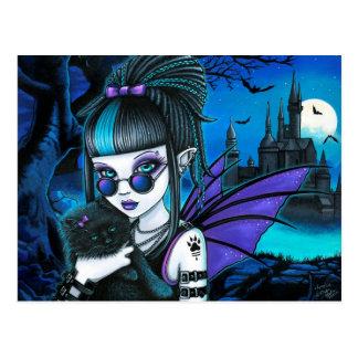 Het Briefkaart van Amelia Vampire Twixt Werekitty
