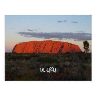 Het Briefkaart van Australië van de Rots van Ayers