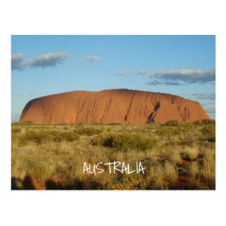 Het Briefkaart van Australië van Uluru (Rots