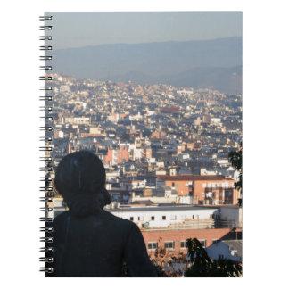 Het Briefkaart van Barcelona Ringband Notitieboek