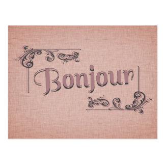 Het Briefkaart van Bonjour