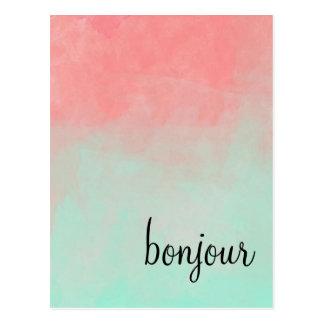 Het Briefkaart van Bonjour van Ombre