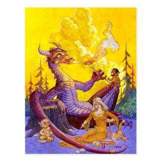 Het Briefkaart van Cookout van de draak