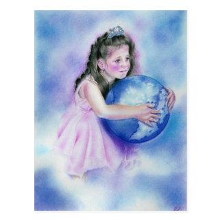 Het Briefkaart van de Aarde van het Wereldbol van