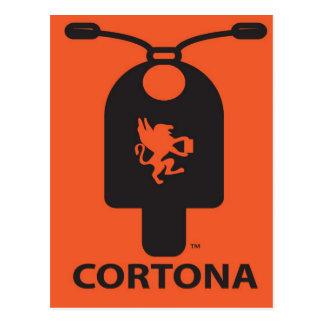 Het Briefkaart van de Autoped van Cortona