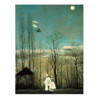 Het Briefkaart van de Avond van Henri Rousseau Car Wenskaart