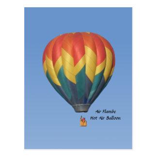Het Briefkaart van de Ballon van de Hete Lucht van Wenskaart