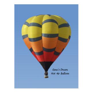 Het Briefkaart van de Ballon van de Hete Lucht van Wens Kaarten