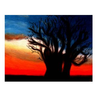Het Briefkaart van de Boom van Chumroo Baobob van  Wens Kaarten