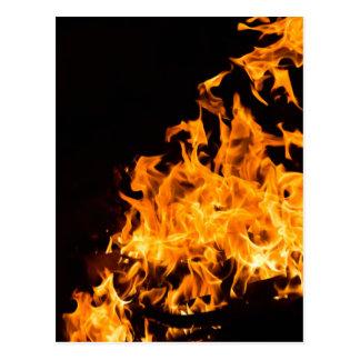 Het briefkaart van de brand