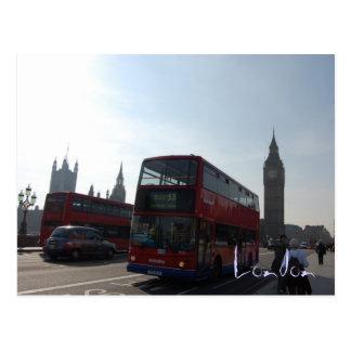 Het Briefkaart van de Bus van Londen