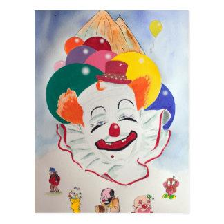 Het Briefkaart van de clown
