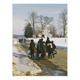 Het Briefkaart van de Dag van de School van Amish