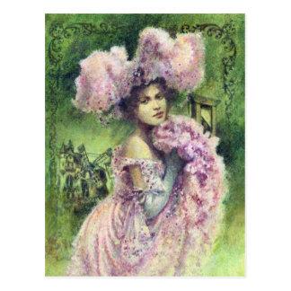 Het Briefkaart van de Danser van Edwardian