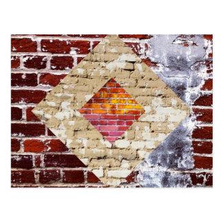 Het Briefkaart van de Diamant van de baksteen