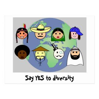 """Het briefkaart van de """"diversiteit"""""""