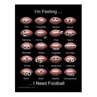 Het Briefkaart van de Emoties van het football