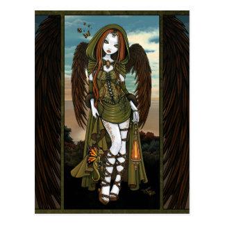 Het Briefkaart van de Engel van de Lantaarn van de