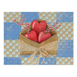 Het Briefkaart van de Envelop van Valentijn