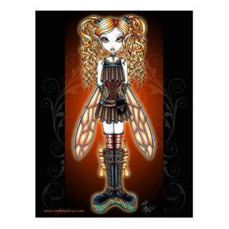 """Het Briefkaart van de Fee van """"Kayla"""" Steampunk"""
