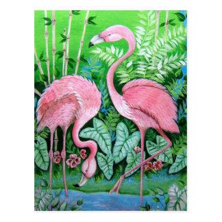 Het Briefkaart van de flamingo