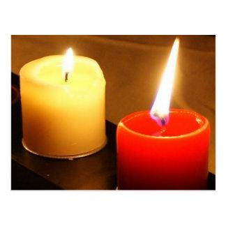 Het Briefkaart van de Foto van kaarsen - Vlammen