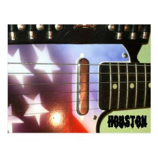 Het Briefkaart van de Gitaar van Houston