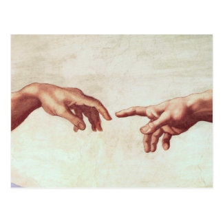Het Briefkaart van de Handen van Michelangelo