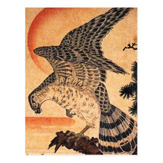 Het Briefkaart van de Havik van Kuniyoshi