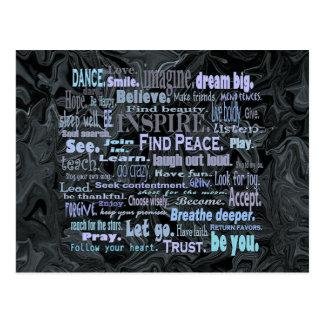 Het briefkaart van de het woordkunst van Uplifting Wenskaart