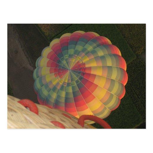 Het briefkaart van de hete luchtballon wenskaart