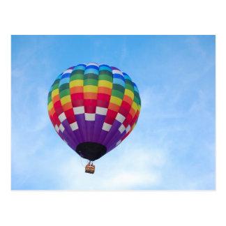 Het briefkaart van de hete luchtballon wens kaart